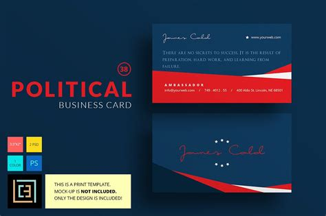 political caign business card templates political business card 38 business card templates
