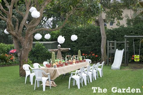 how to decorate a backyard for a birthday party gardening fun a double birthday party phoodie