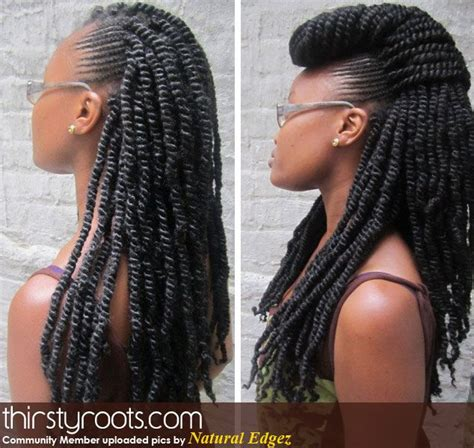 braids for nappy medium length marley twists google search hair