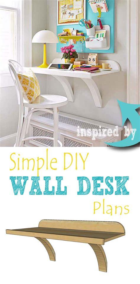 wall desk diy remodelaholic simple diy wall desk