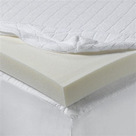 mattress pad bed bath and beyond isotonic 174 2 inch visco elastic memory foam mattress topper