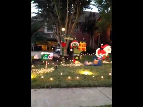 sesame street christmas yard decorations youtube