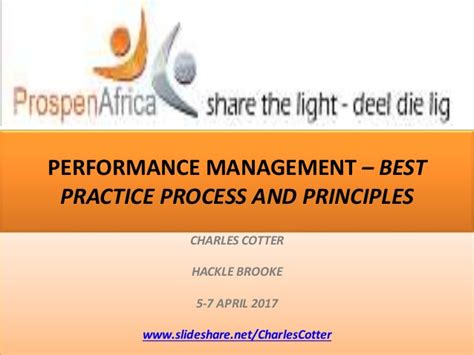 best practices in performance management performance management best practice process and principles