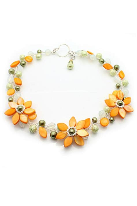 nurabella yellow flower necklace from new hshire by