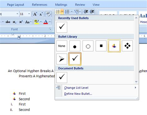 Change Table Style Word 2007 Change Bullet Or Number Styles List 171 Style Formatting 171 Microsoft Office Word 2007 Tutorial