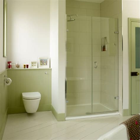 Bathroom Alcove Ideas | green bathroom with alcove shower country decorating