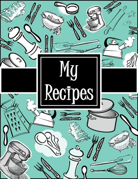 9 best images of recipe binder printables cover page clip