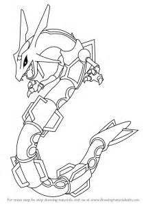 steps on how to draw doodle learn how to draw rayquaza from step by