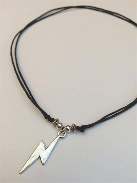 lightning bolt necklace adjustable cord necklace lightning