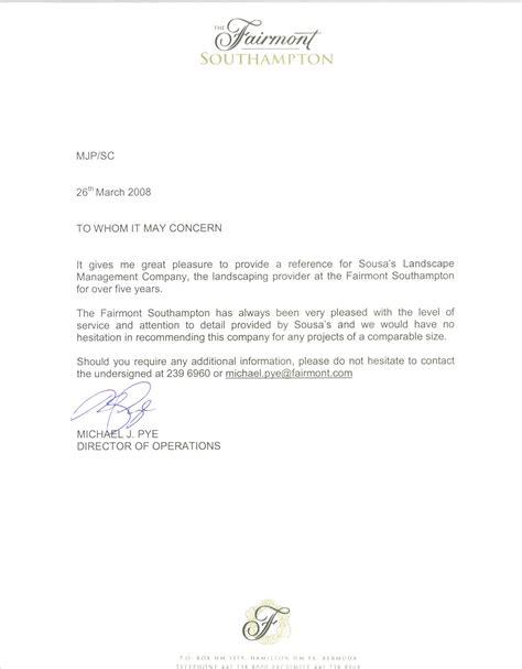 Letter For Landscaping Sousa S Landscape Management