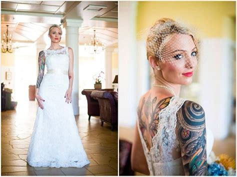 tattooed brides 62 best tattooed images on tattooed