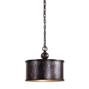 uttermost pendant lighting uttermost albiano 1 light oxidized bronze pendant 21921