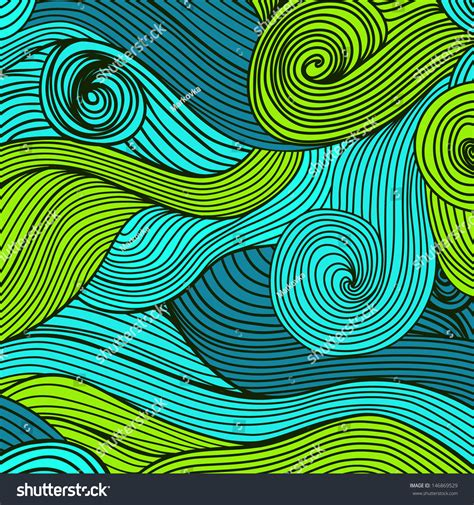 backdrop wave design vector handdrawn waves texture wavy background stock