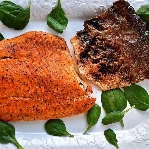 spicy roasted salmon with crispy skin the genetic chef