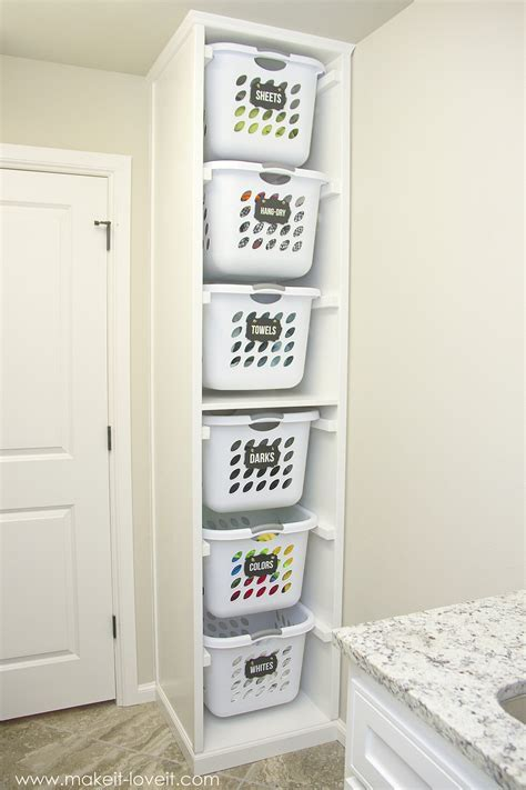 DIY Laundry Basket Organizer ( Built In)   Make It and