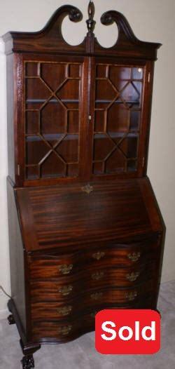 Antique Secretary Desk  Mahogany Secretary Chippendale Secretary Desk