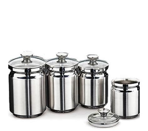 kitchen canister sets stainless steel tramontina 4 stainless steel canister set page 1