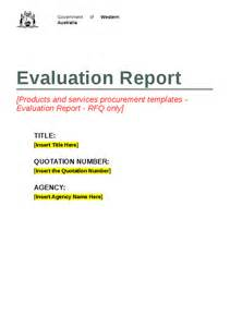 template for evaluation report rfq evaluation report template hashdoc