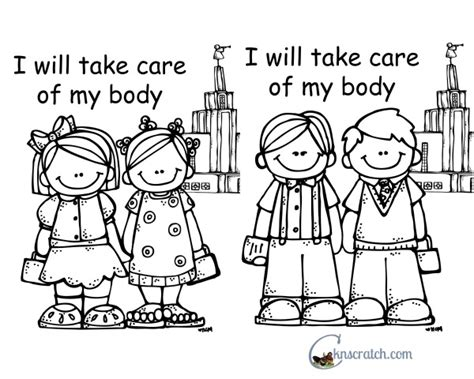 lds coloring pages word of wisdom behold your little ones lesson 10 i will take care of my
