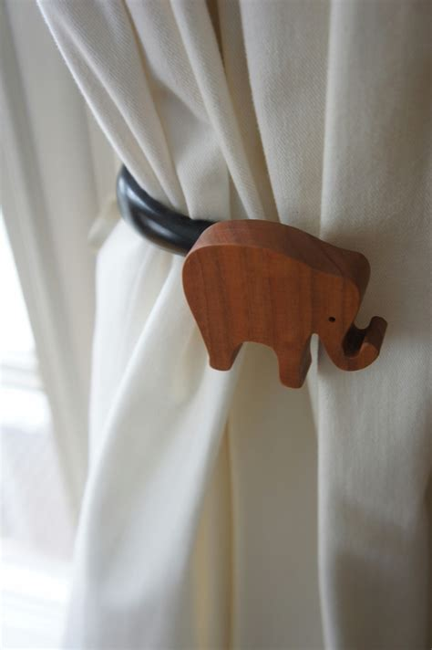 Nurserydecor Elephants Curtain Tie Backs Upscale Curtain Tie Backs For Nursery