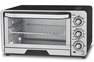 Toaster Oven With Auto Slide Out Rack Cuisinart Tob 40 Stainless Steel Custom Classic Toaster