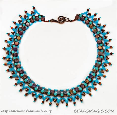 tila bead necklace patterns free pattern for necklace bird of paradise magic