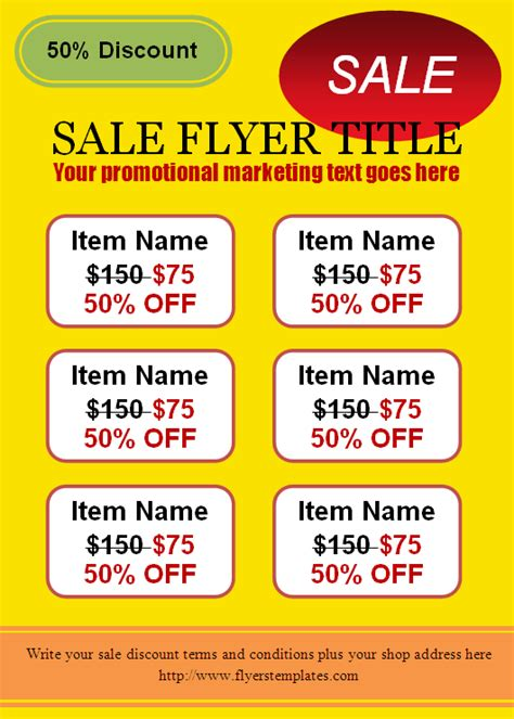 for sale flyer template business flyers templates