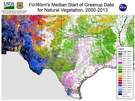 texas vegetation map nasa satellites map vegetation and across the u s houston chronicle