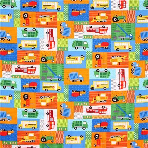 Patchwork Fabric Usa - patchwork vehicle tractor fabric robert kaufman usa