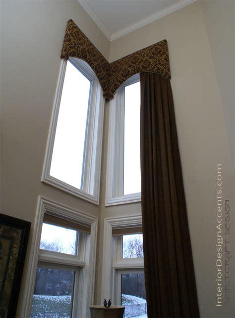 Decorative Window Treatments Cornice Window Treatments With Drapery Panels Interior
