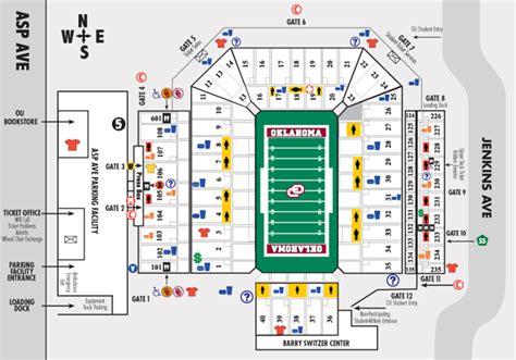 owen field seating chart owen field oklahoma memorial stadium gaylord family