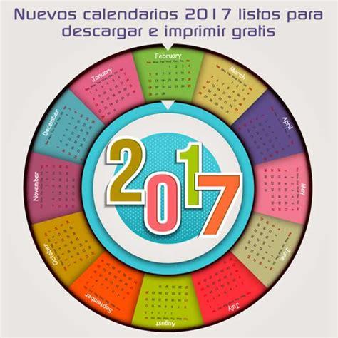 Calendarios Gratis 2017 Para Imprimir M 225 S Calendarios 2017 Gratuitos Para Descargar E Imprimir