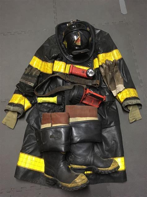 firefighting bunker boots chicago department turnout bunker gear helmet rubber