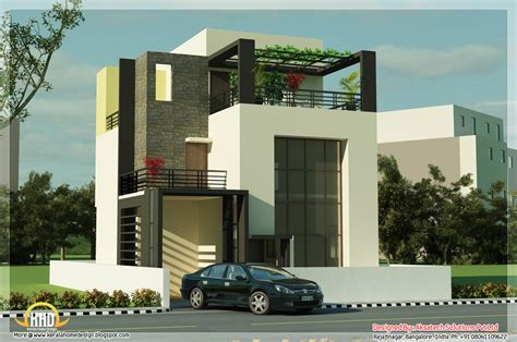 5 beautiful modern contemporary house 3d renderings kerala home design and floor plans