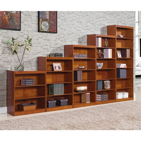 staggered bookshelves remmington heavy duty bookcase with reinforced shelves oak www