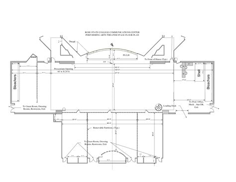 floor plan template for theatre visio stage floor plan