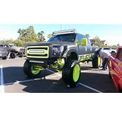 Bigg Boss Black And Yellow Ford Lifted Truck  Off Road Wheels