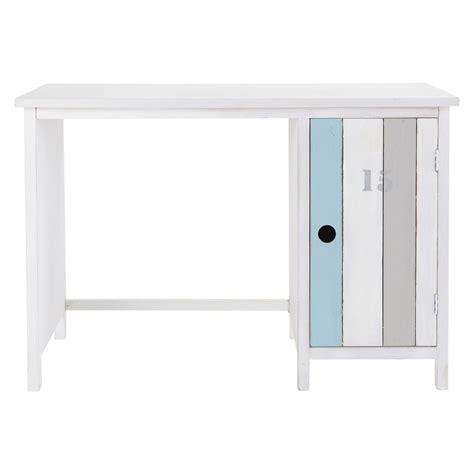 bureau en bois blanc bureau en bois blanc l 110 cm oc 233 an maisons du monde