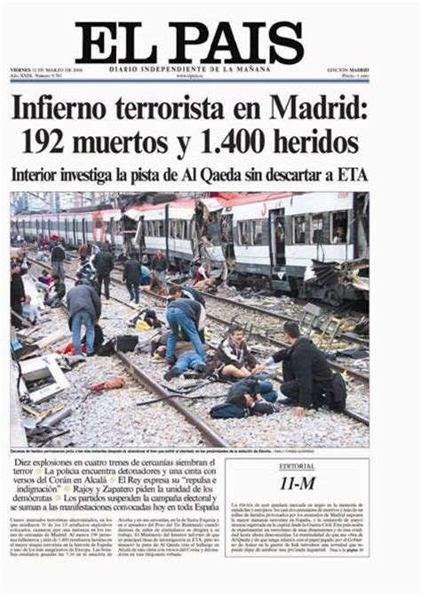hay que temer un atentado en espaa el mundo 201 tica fotogr 193 fica 201 tica y fotoperiodismo enrique villase 241 or