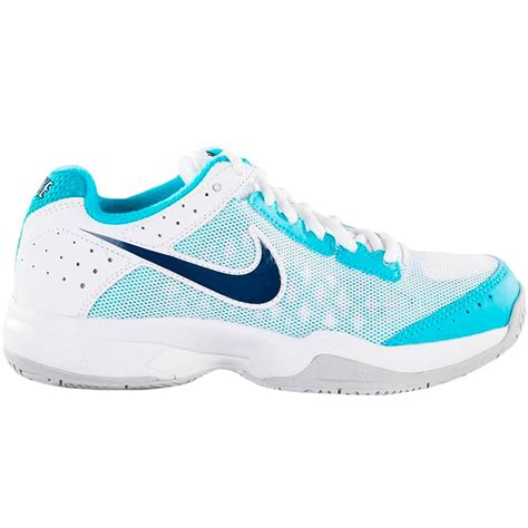 nike tennis shoes nike air cage court junior tennis shoes blue white grey