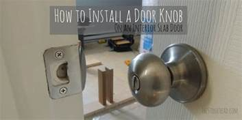 how to install a door knob on a slab door the
