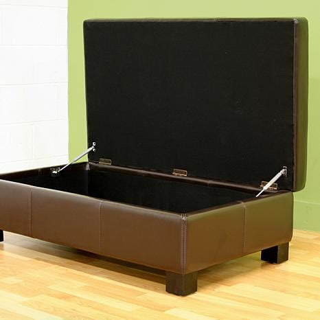 dark brown leather storage ottoman leather storage ottoman dark brown 6439751 hsn