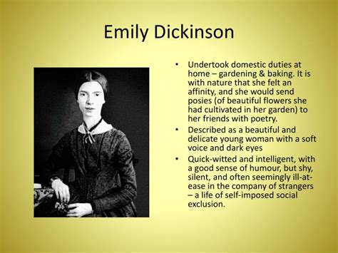 emily dickinson biography ppt ppt emily dickinson powerpoint presentation id 1561888