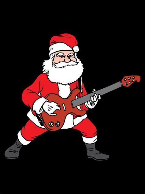 rockin santa christmas ringtones rockin santa novelty s black t shirt buy at grindstore
