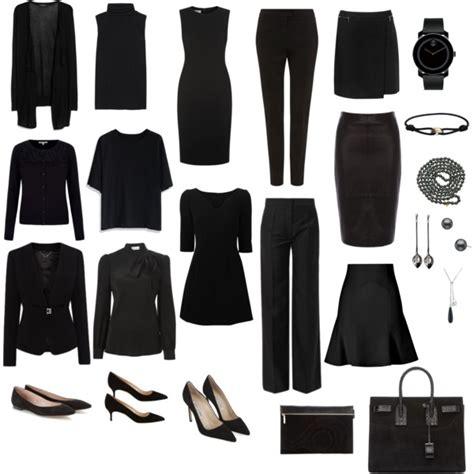 All Black Wardrobe by All Black Business Capsule Wardrobe Polyvore
