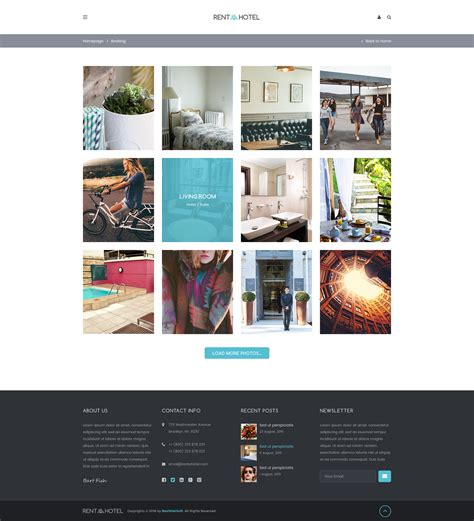 templates for hostel website rent a hotel hostel guest house booking website psd