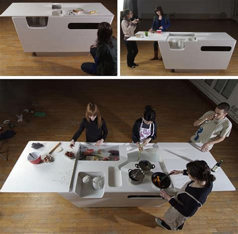 fold out table is kitchen island work surface in one