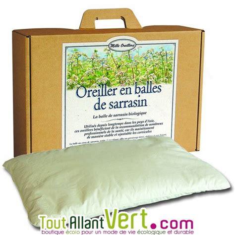 Oreillers Bio by Milles Oreillers Oreiller En Balle De Sarrasin Naturel