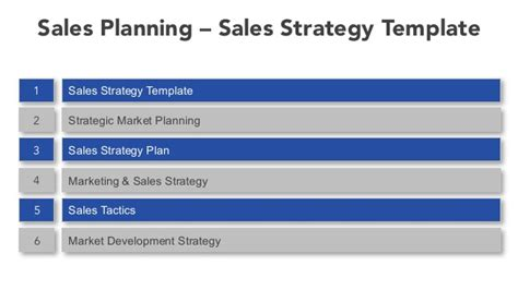 sales strategy template sales planning sales strategy template