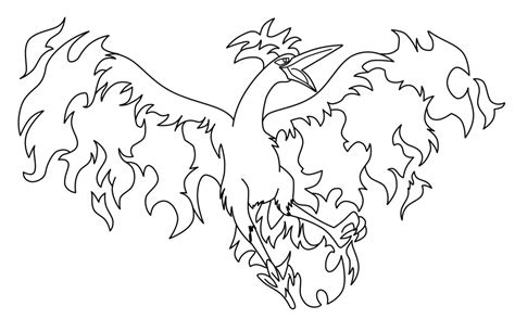 pokemon coloring pages moltres legendary pokemon coloring pages moltres coloringstar